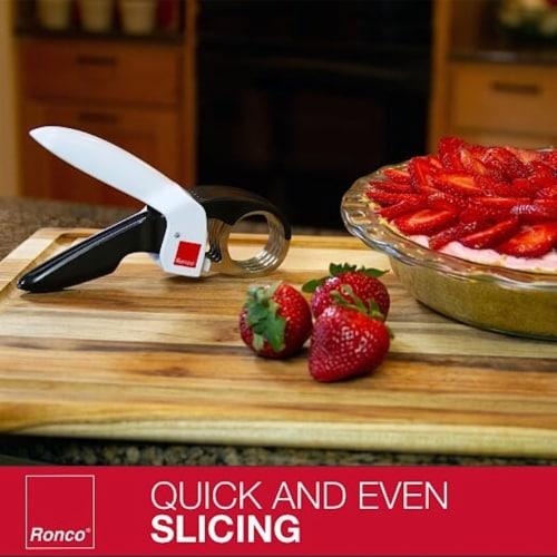 Ronco Handi Slicer for Fruit and Vegetable Chopping, 1.5  Slicer, Black & White Perspective: top