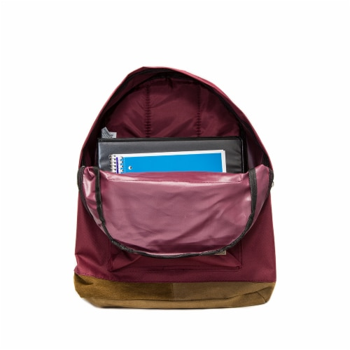 Everest Suede Bottom Backpack - Burgundy Perspective: top
