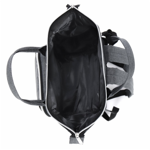 Everest Mini Back Backpack Handbag - Gray Perspective: top