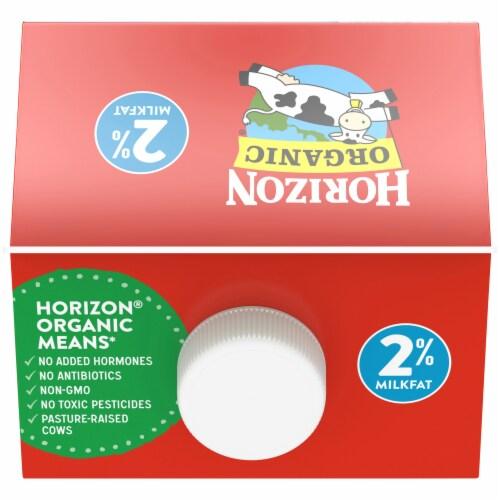 Horizon Organic Lactose-Free 2% Reduced Fat Milk Perspective: top