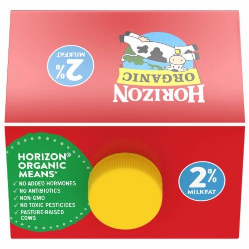 Horizon Organic® DHA Omega-3 2% Reduced Fat Milk Perspective: top