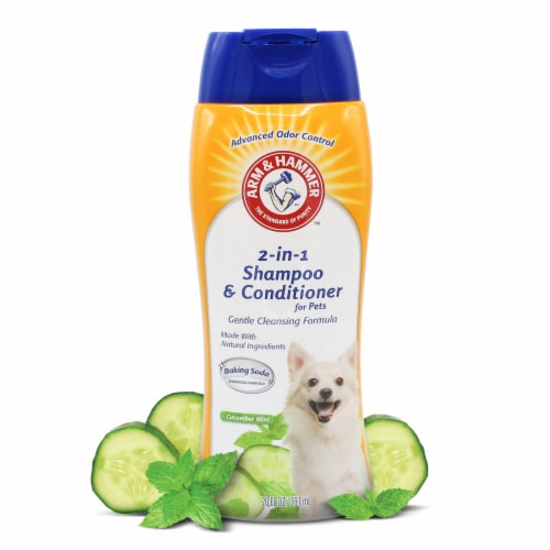 Arm & Hammer Cucumber Mint 2-in-1 Pet Shampoo & Conditioner Perspective: top