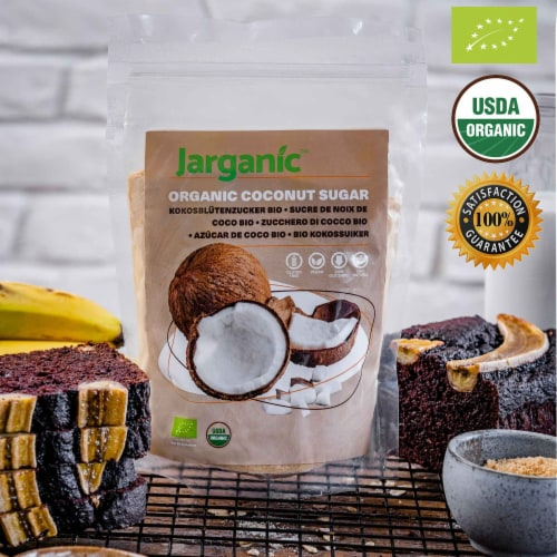 Organic Coconut Sugar 1 lb / 16 oz - Gluten-Free Vegan GMO-Free Paleo, Low Glycemic Index Perspective: top