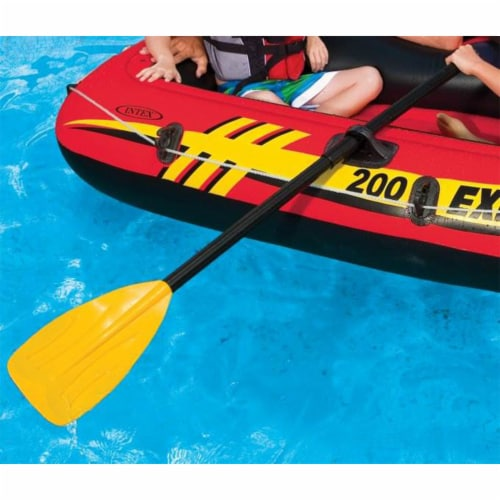 """Intex 48"""" Paddles Plastic Ribbed French Oars Set for Inflatable Boat (2 Pairs) Perspective: top"""