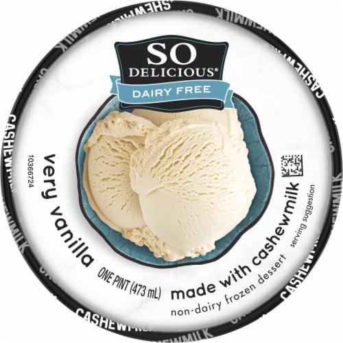 SO Delicious Very Vanilla Cashewmilk Non-Dairy Frozen Dessert Perspective: top