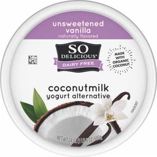 SO Delicious Dairy Free Unsweetened Vanilla Coconutmilk Yogurt Alternative Perspective: top