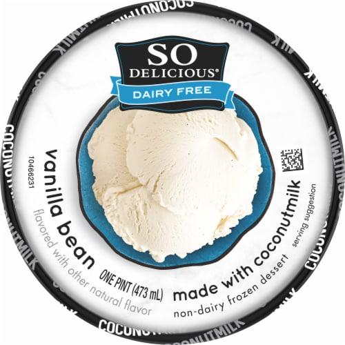 SO Delicious® Dairy Free Coconut Milk Vanilla Bean Frozen Dessert Perspective: top