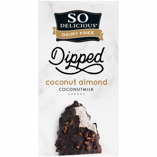 SO Delicious Dairy Free Dipped Coconut Almond Coconutmilk Frozen Dessert Bars 4 Count Perspective: top