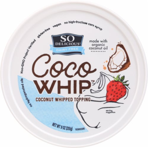 SO Delicious Dairy Free Cocowhip Coconut Whipped Topping Perspective: top