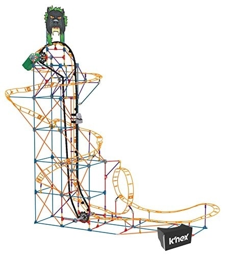 K'NEX Thrill Rides - Panther Attack Roller Coaster Building Set with Ride It! App - 690 Piece Perspective: top