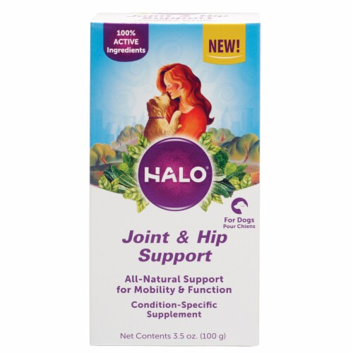 HALO Joint & Hip Support Natural Dog Supplements with Glucosamine Perspective: top