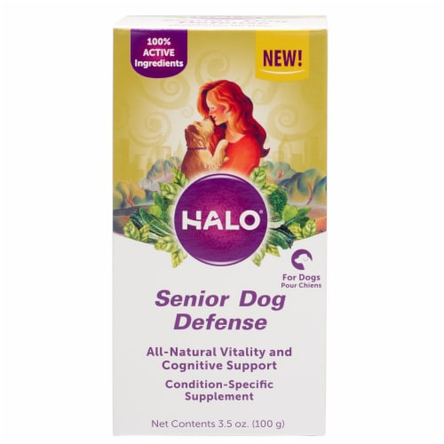HALO Senior Dog Defense Natural Supplements with Cognitive Support Perspective: top