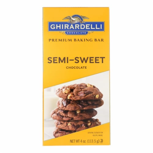 Ghirardelli Premium Baking Bar Semi-Sweet Chocolate Perspective: top