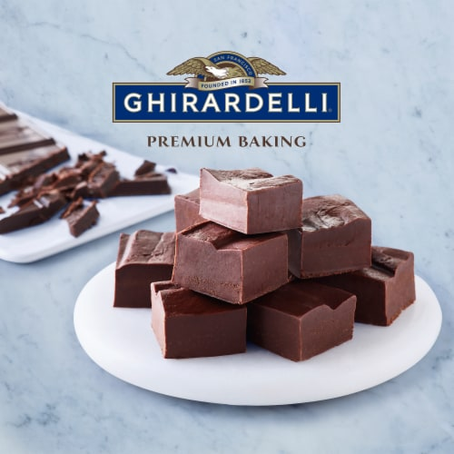 Ghirardelli Premium 100% Cacao Unsweetened Baking Chocolate Bar Perspective: top