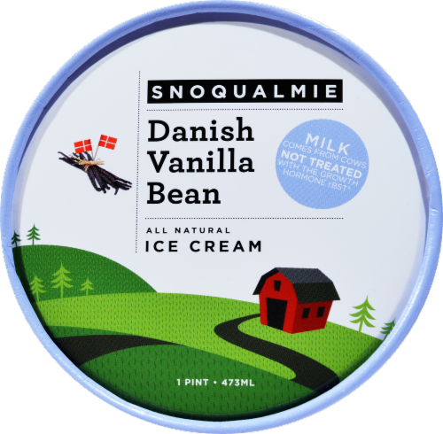 Snoqualmie Danish Vanilla Bean Ice Cream Perspective: top