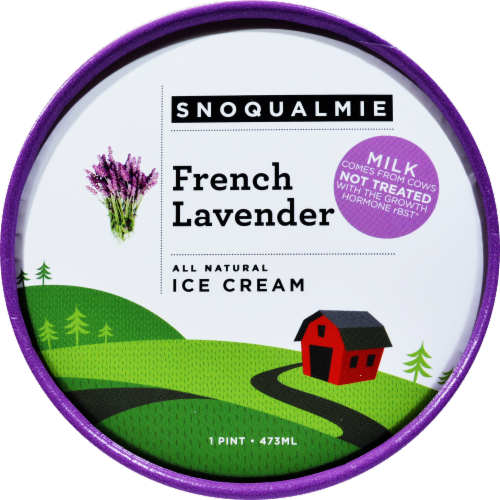Snoqualmie French Lavender Ice Cream Perspective: top