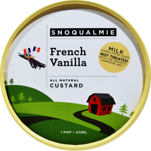 Snoqualmie French Vanilla Custard Perspective: top