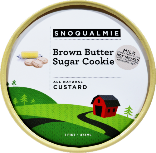 Snoqualmie Brown Butter Sugar Cookie Ice Cream Perspective: top