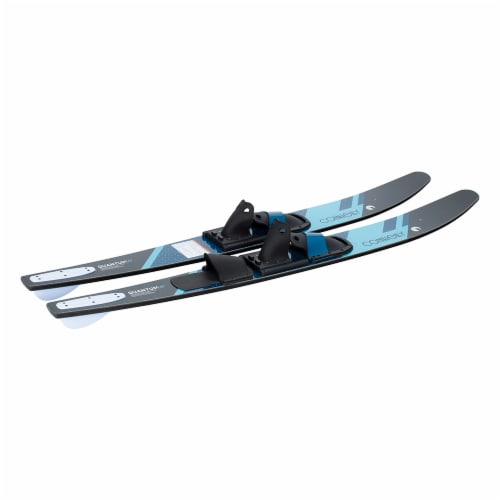 CWB Connelly 61200342-CON Quantum Waterskiing Skis with Bindings 68-inch, Blue Perspective: top