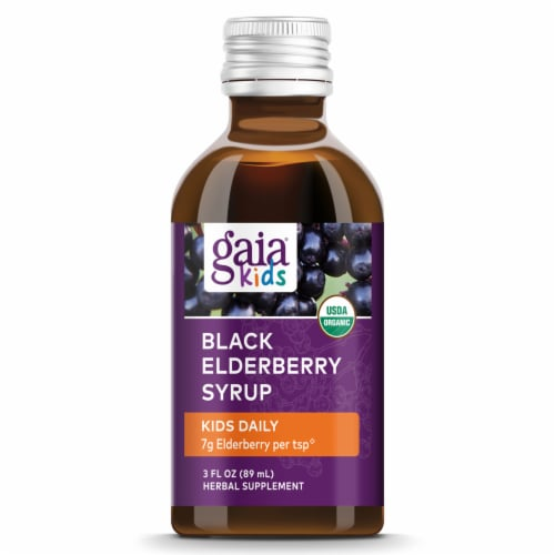 Gaia® Kids Black Elderberry Syrup Perspective: top