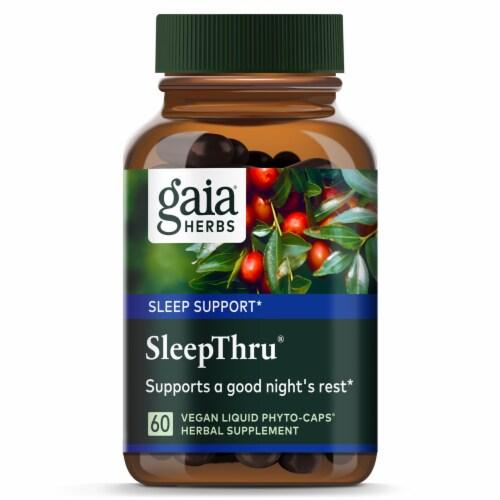 Gaia Herbs® SleepThru Vegan Liquid Phyto-Caps Perspective: top