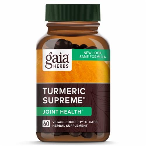 Gaia Herbs® Turmeric Supreme Joint Liquid Phyto-Caps Perspective: top