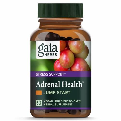 Gaia Herbs Adrenal Health Jump Start Capsules Perspective: top