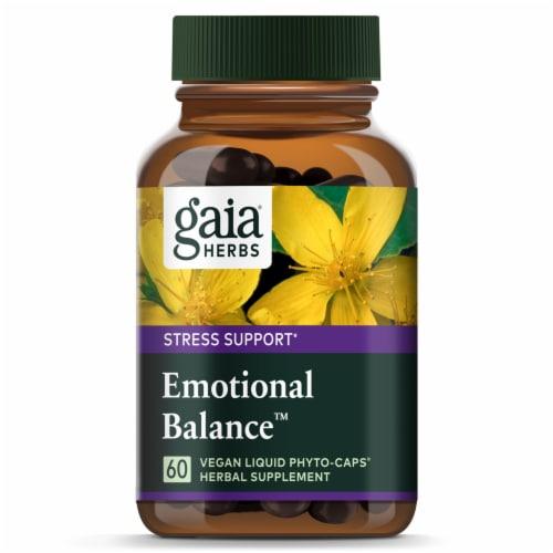 Gaia® Herbs Emotional Balance™ Vegan Liquid Phyto-Caps® Herbal Supplement Perspective: top