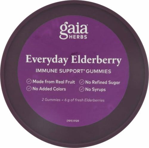 Gaia Herbs® Everyday Elderberry Immune Support Vegan Gummies Perspective: top