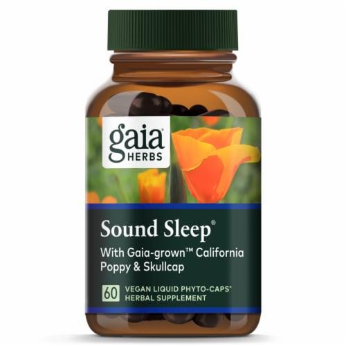 Gaia Herbs® RapidRelief Sound Sleep Vegan Liquid Phyto-Caps Perspective: top