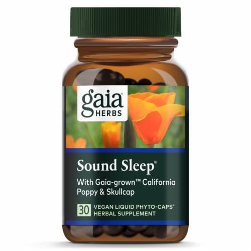 Gaia Herbs® Sound Sleep Vegan Liquid Phyto-Caps Perspective: top