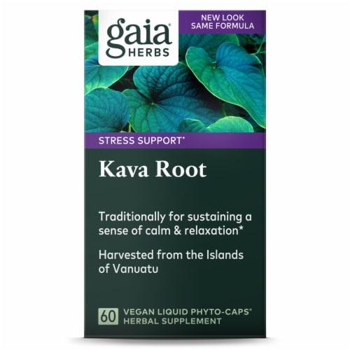 Gaia® Herbs Kava Kava Root Liquid Phyto Caps Perspective: top