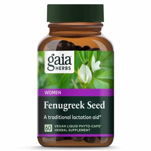 Gaia Herbs Fenugreek Seed Herbal Supplement Vegan Liquid Phyto-Caps Perspective: top