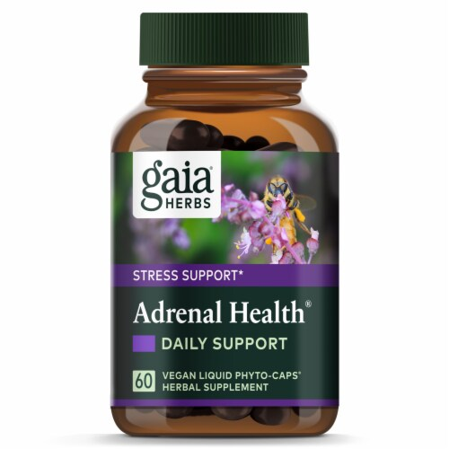 Gaia Herbs Stress Support Adrenal Health Liquid Phyto-Capsules Perspective: top