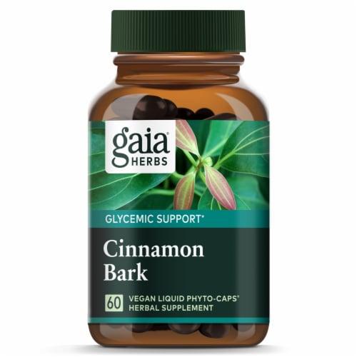 Gaia Herbs Cinnamon Bark Herbal Supplement Perspective: top