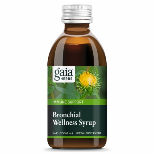 Gaia Herbs Bronchial Wellness Syrup Perspective: top