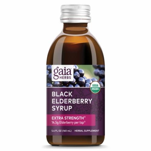 Gaia Herbs Organic Black Elderberry Syrup Perspective: top
