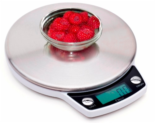 Ozeri Precision Pro Stainless-Steel Digital Kitchen Scale with Oversized Weighing Platform Perspective: top