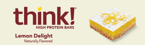 think! Lemon Delight High Protein Bars Perspective: top