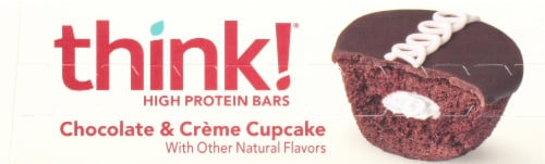 think! Chocolate & Crème Cupcake Gluten Free High Protein Bars Perspective: top
