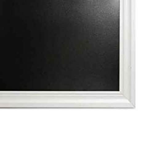 Saltoro Sherpi Rectangular Wooden Chalkboard with Beveled Frame, Black and White Perspective: top