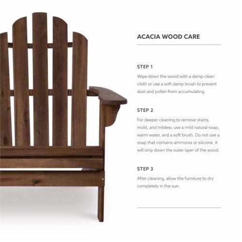 Linon Adirondack Wood Outdoor Double Bench in Acorn Brown Perspective: top