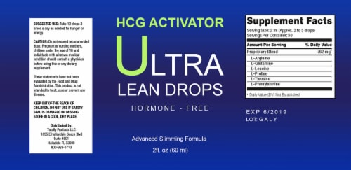 Ultra Lean 2-ounce Weight Loss Drops with Acai Berry (Buy 2 Get 1 Free) Perspective: top
