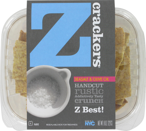 Z Crackers Sea Salt & Olive Oil Perspective: top