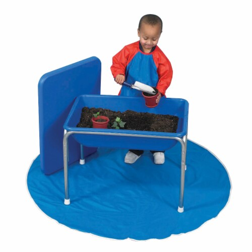 Children's Factory Small Sensory Table & Lid Set - Blue Perspective: top