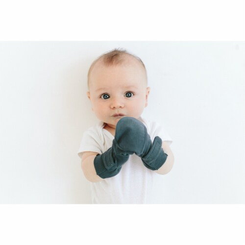 Goumikids Soft Organic Stay On No Scratch Baby Infant Mittens, 3-6M Midnight Perspective: top