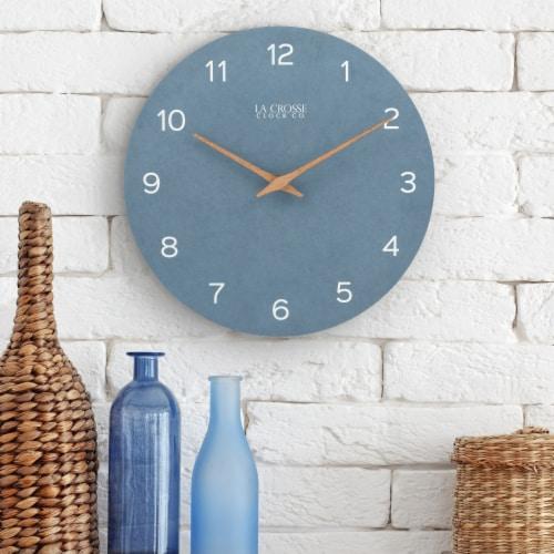 La Crosse Technology Paper Wall Clock - Blue Perspective: top
