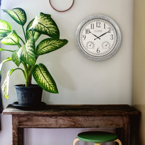 La Crosse Technology Silas Indoor/Outdoor Wall Clock Perspective: top