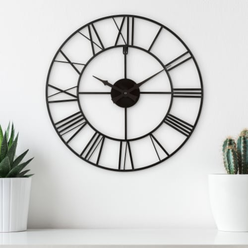 La Crosse Technology Wrought Iron Wall Clock - Black Perspective: top