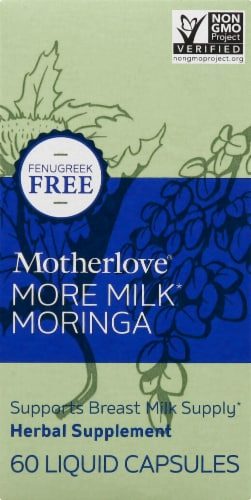 Motherlove More Milk Moringa Liquid Capsules Perspective: top
